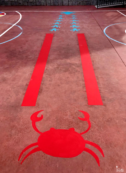 mural izas azulpatio cpee la quinta pista sup cangrejo