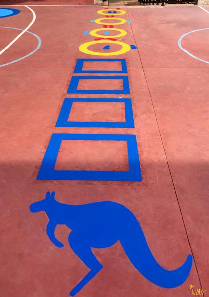 mural izas azulpatio cpee la quinta pista sup canguro