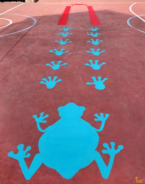 mural izas azulpatio cpee la quinta pista sup rana