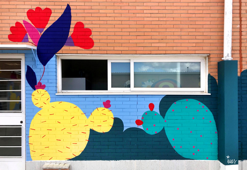 mural izas azulpatio cpee monte abantos infantil detalle 11