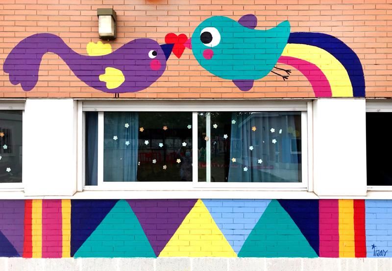 mural izas azulpatio cpee monte abantos infantil detalle 13