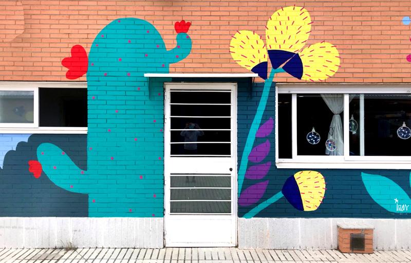 mural izas azulpatio cpee monte abantos infantil detalle 14