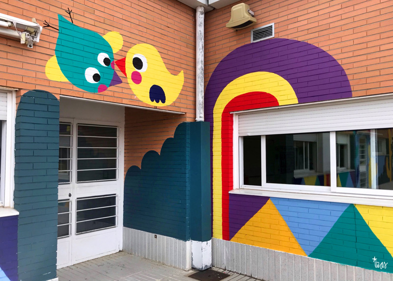mural izas azulpatio cpee monte abantos infantil detalle 3