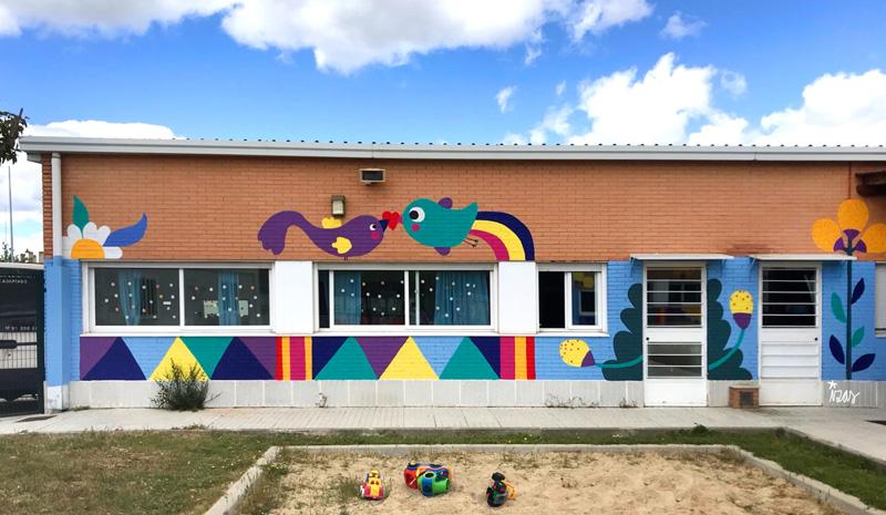 mural izas azulpatio cpee monte abantos infantil pano 1