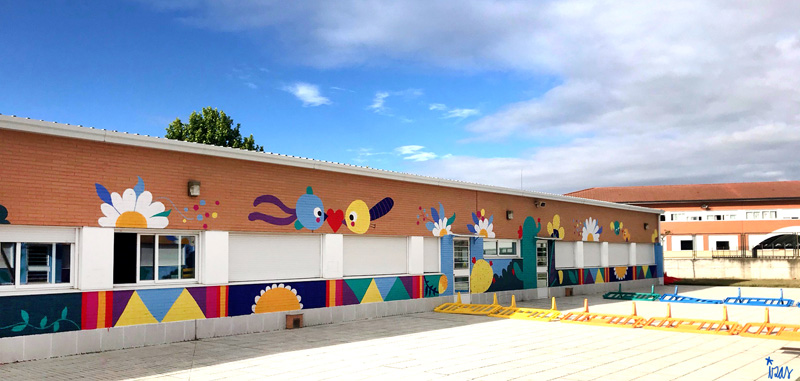 mural izas azulpatio cpee monte abantos infantil pano 12