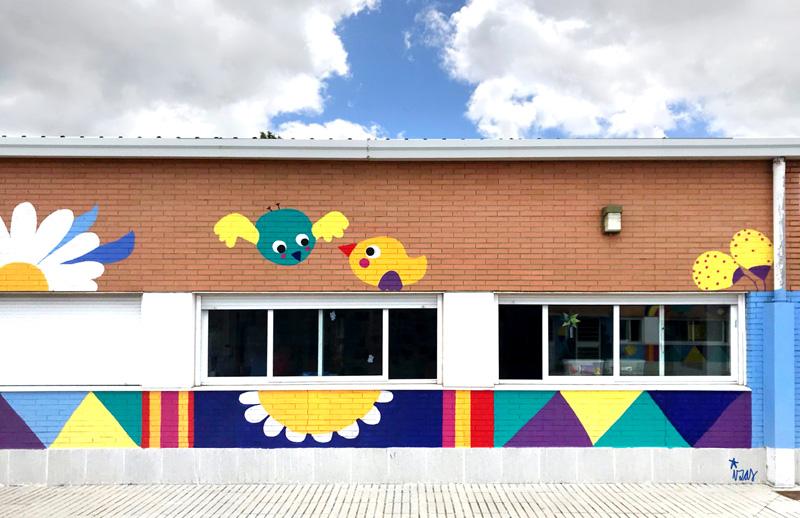 mural izas azulpatio cpee monte abantos infantil pano 3