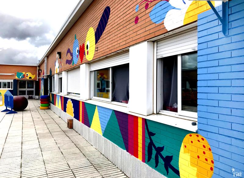 mural izas azulpatio cpee monte abantos infantil pano 4