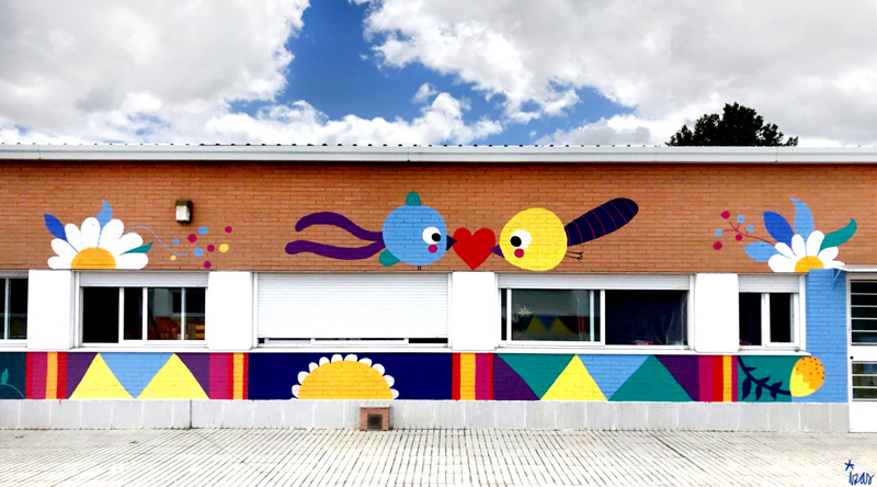 mural izas azulpatio cpee monte abantos infantil pano 5
