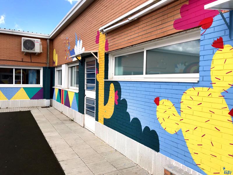 mural izas azulpatio cpee monte abantos infantil pano 6
