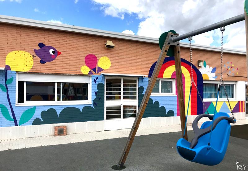 mural izas azulpatio cpee monte abantos infantil pano 9