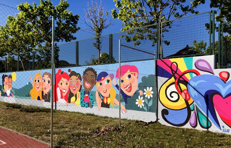 mural izas azulpatio cpee monte abantos mayores pano 3