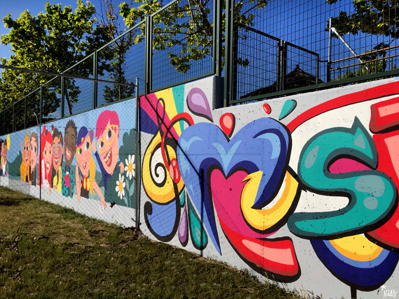 mural izas azulpatio cpee monte abantos música 1