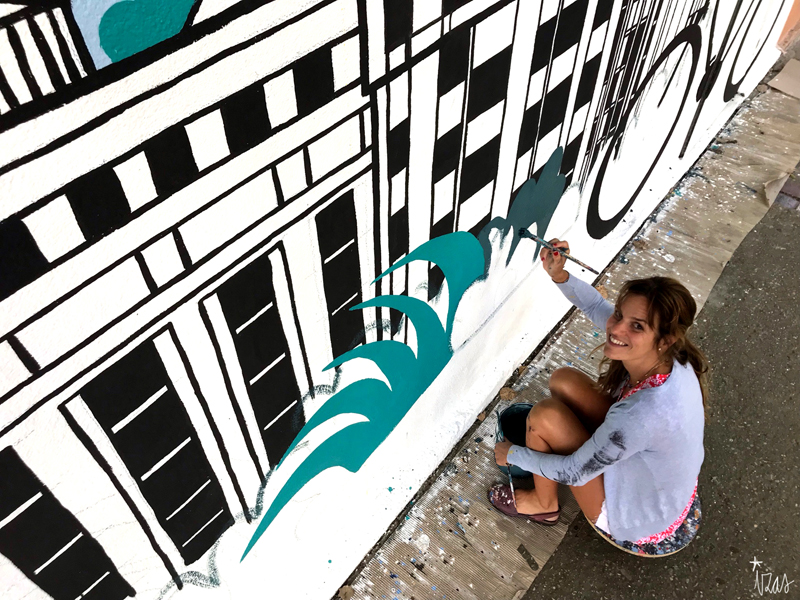 mural izas azulpatio mass arquitectura proceso 15