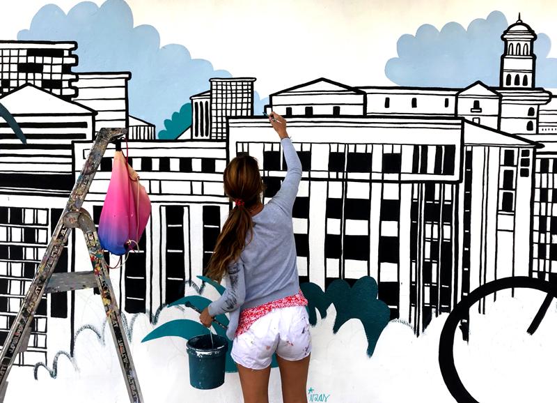 mural izas azulpatio mass arquitectura proceso 18